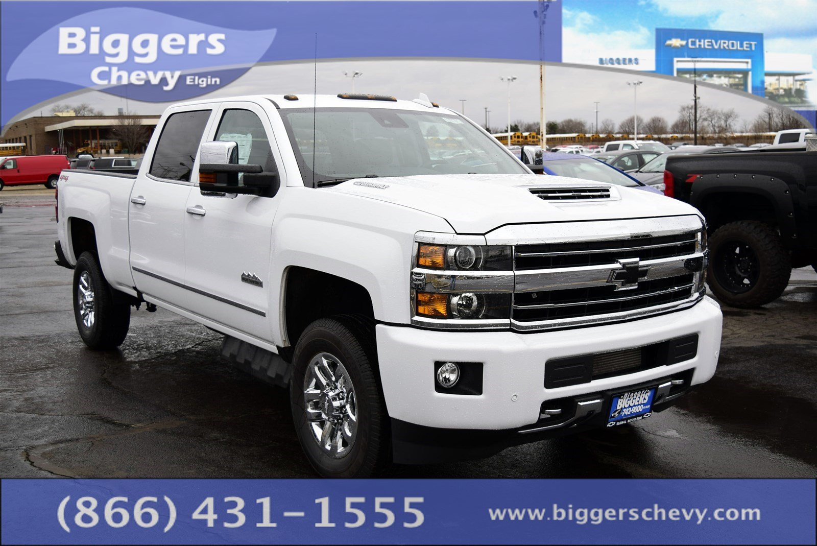 new 2018 chevrolet silverado 3500hd high country 4d crew cab near schaumburg 3180531 biggers. Black Bedroom Furniture Sets. Home Design Ideas