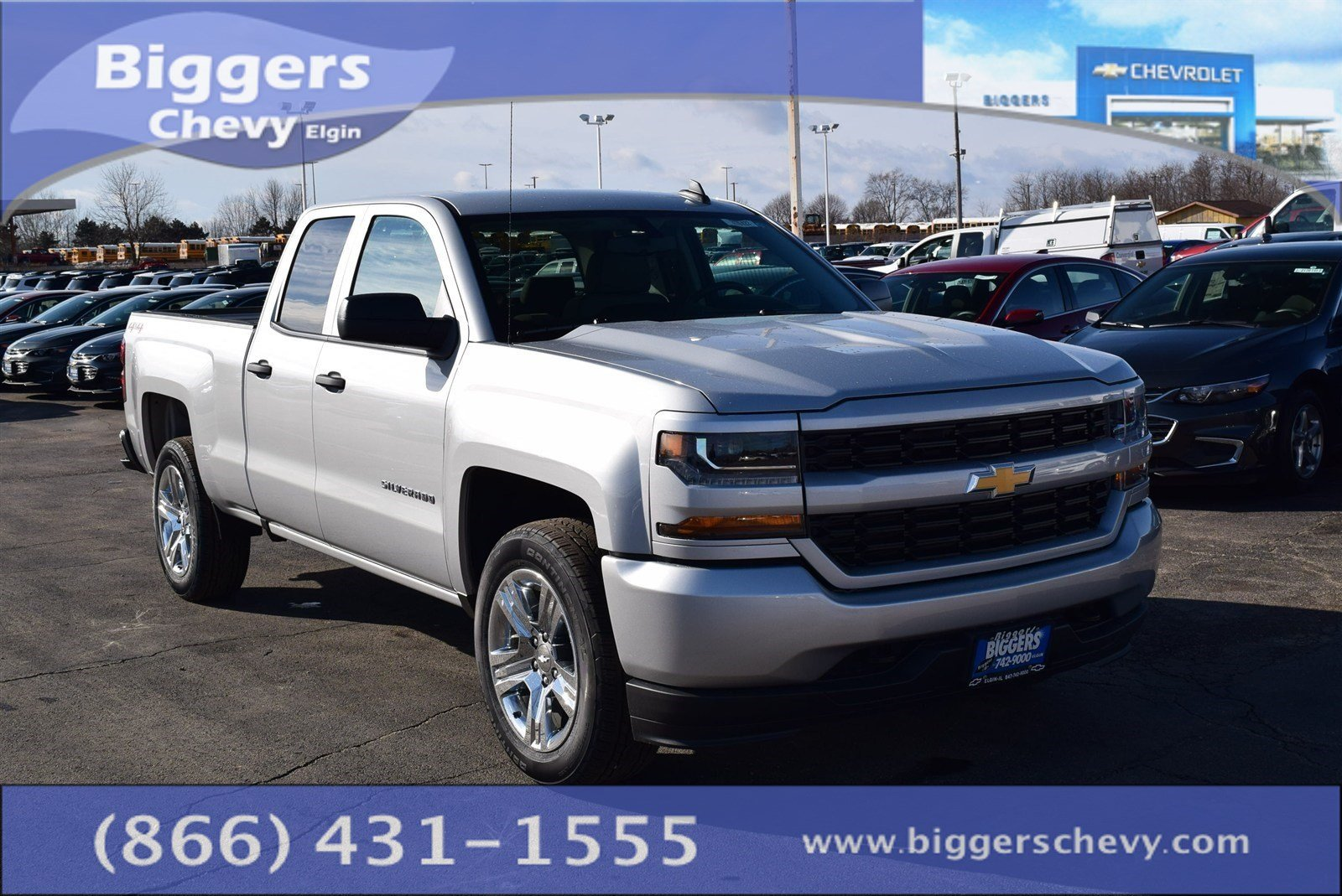 new 2017 chevrolet silverado 1500 custom double cab near schaumburg 3170422 biggers chevrolet. Black Bedroom Furniture Sets. Home Design Ideas